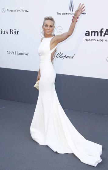 Sharon Stone на фестивале в Каннах