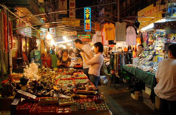 Гонконг ночной рынок фото