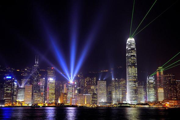 Гонконг Лазерное шоу фото