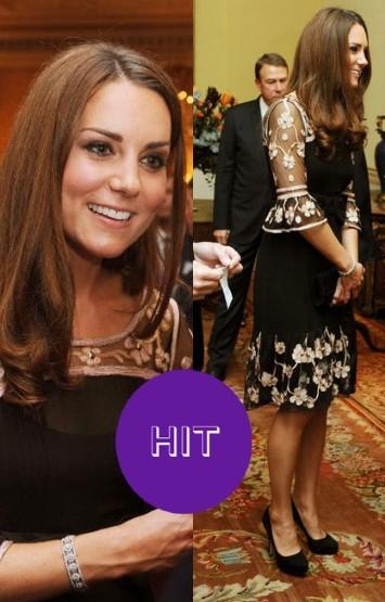 Кейт Миддлтон в черном платье фото