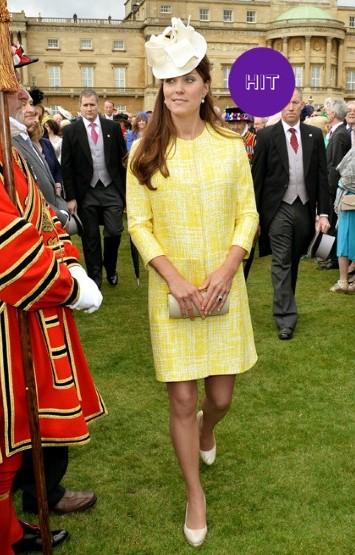 Кейт Миддлтон в желтом платье фото