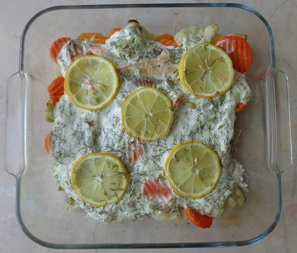 филе рыбы с овощами фото