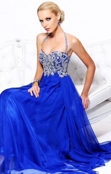 синее платье для нового года 2014