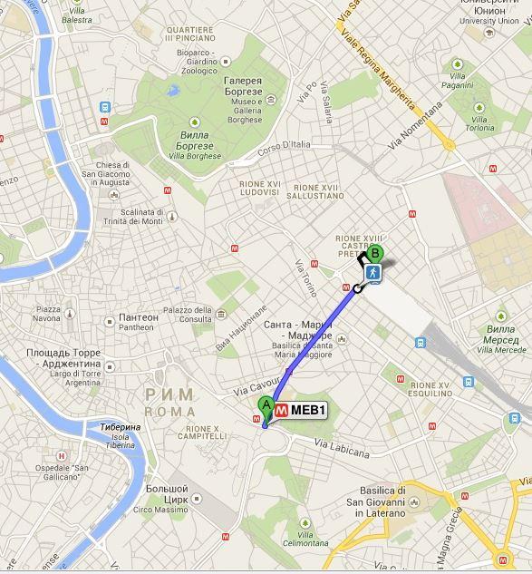 Рим Колизей на карте