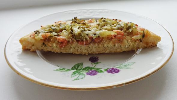 вкусное тесто для пиццы с креветками