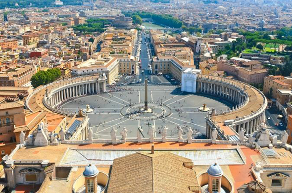 Рим Собор Святого Петра  вид с крыши