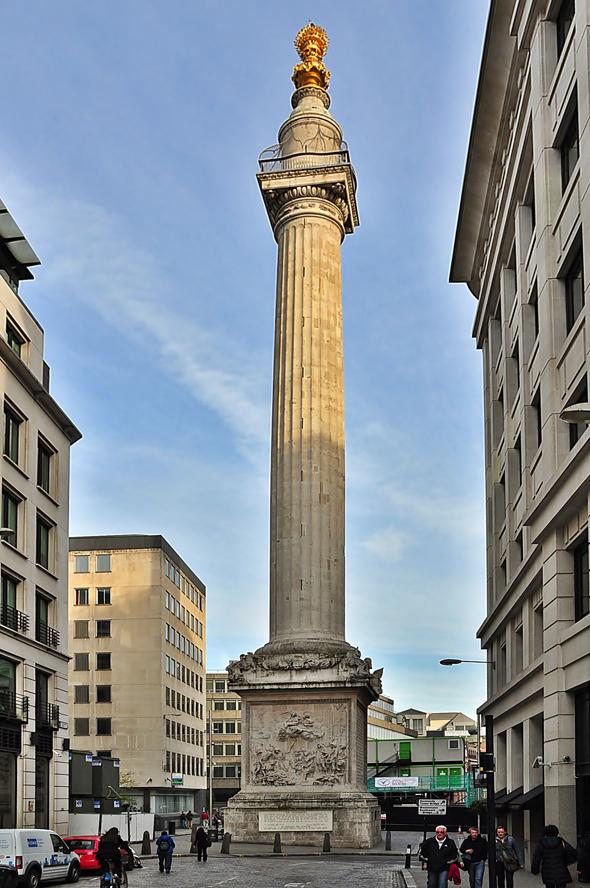 Монумент, посвященный Великому Лондонскому пожару 1666 года