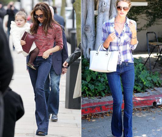 джинсы в стиле ретро