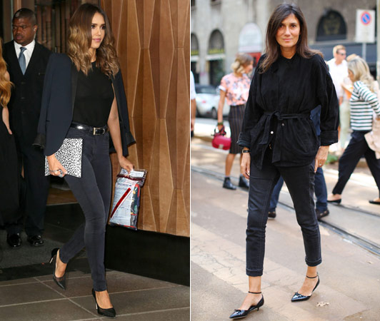 джинсы с пиджаком