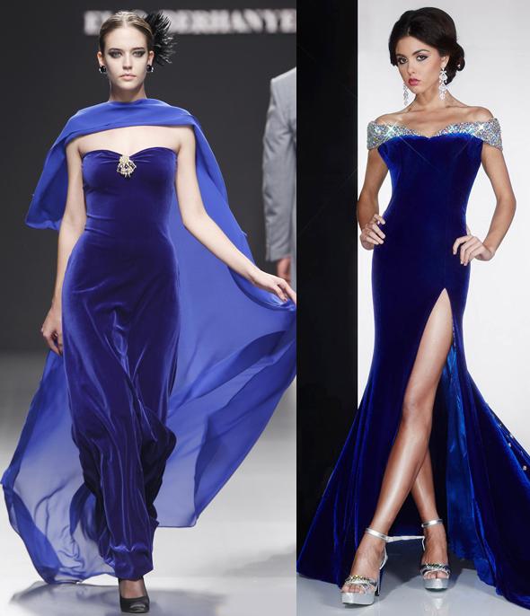 Синие платья на Новый год