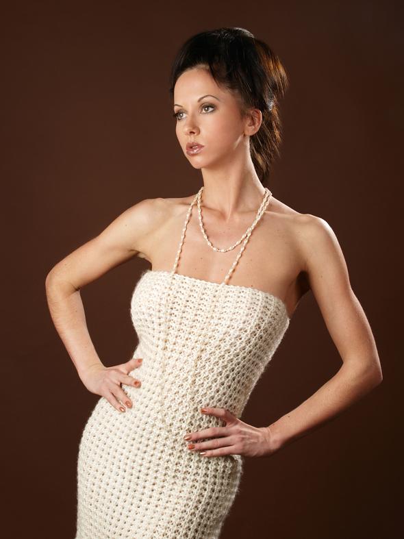 Вязать платье к новому году