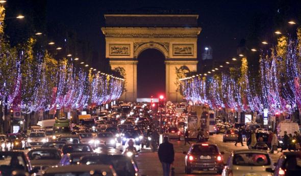 Париж Елисейские Поля
