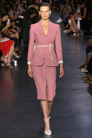 skirt suits Altuzarra gingham