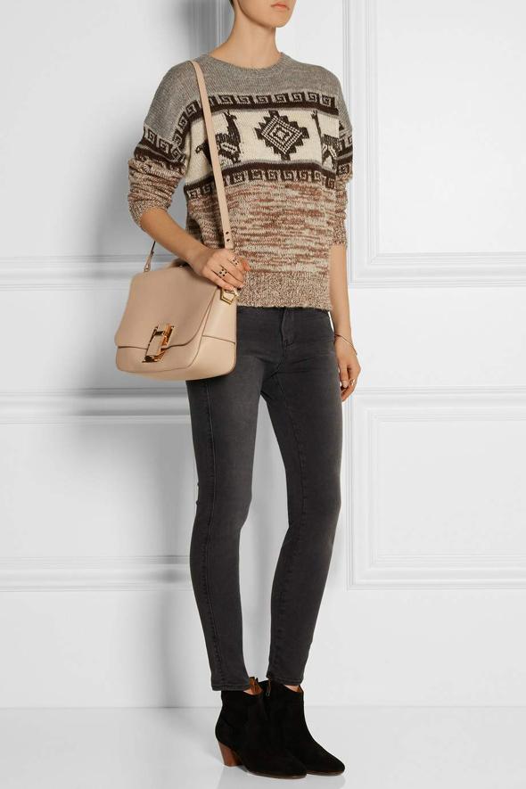 женская сумка Sophie Hulme сочетание с одеждой