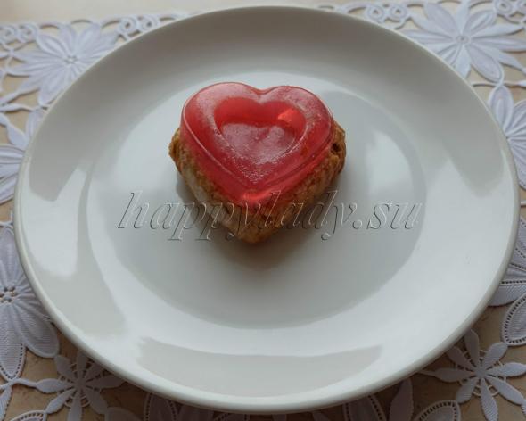 пирожное Сладкое сердце