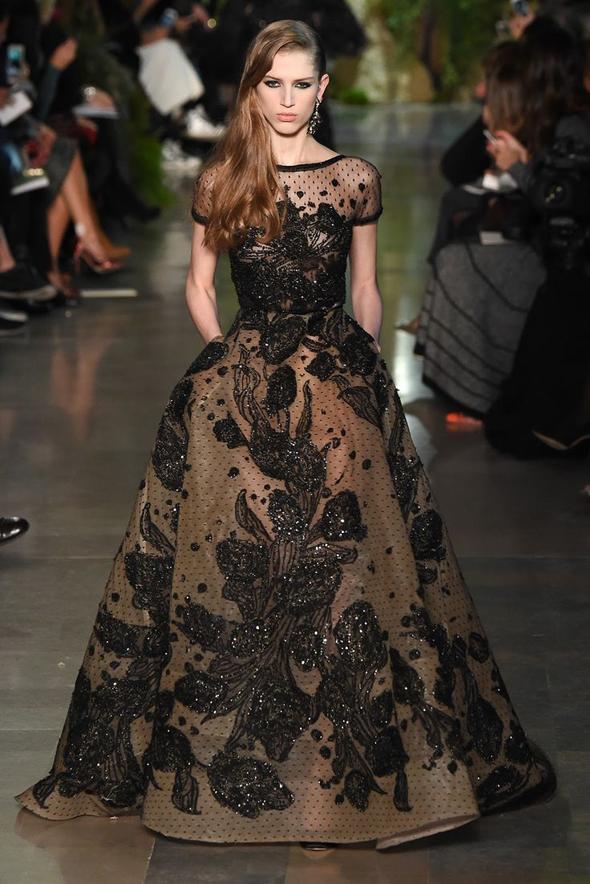 черное платье Эли Сааб