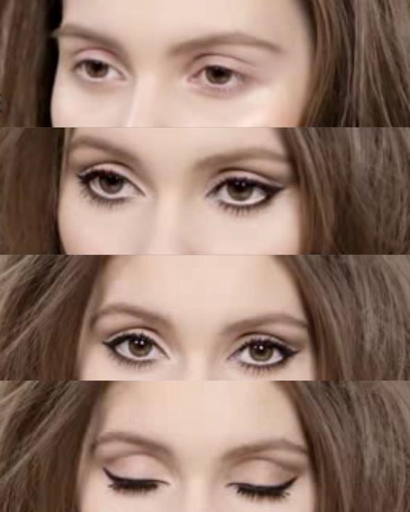 макияж глаз пошаговый