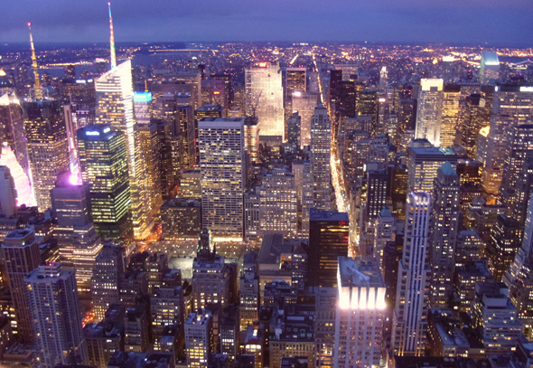 Вид Нью-Йорка с Эмпайр-стейт-билдинг