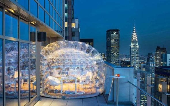 Вид на Нью-Йорк с крыши Бара 54