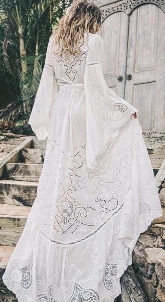 Длинное платье в стиле бохо