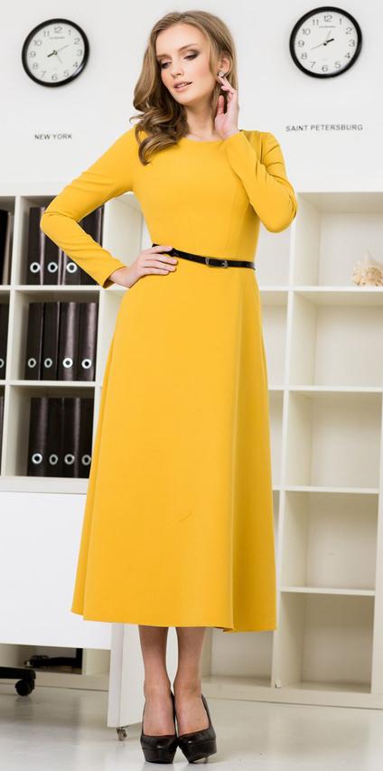 платье цвета охры